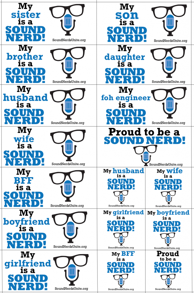 Sound Nerds Unite Stickers